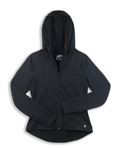LADIES HOODED YOGA JACKET