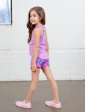 GIRLS 2-6 SIDE POCKET YOGA SHORT