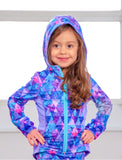GIRLS 2-6 CUT AND SEW HOODED JACKET