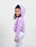 GIRLS 2-6 CROP HOODED SWEATSHIRT