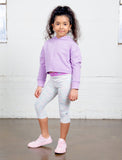 GIRLS 2-6 ELASTIC WAIST CAPRI LEGGING
