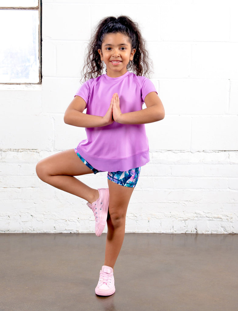 GIRLS 2-6 YOGA SHORT
