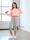 GIRLS STRETCH COTTON CROPPED JOGGER