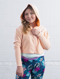 GIRLS CROPPED ZIP-UP HOODY