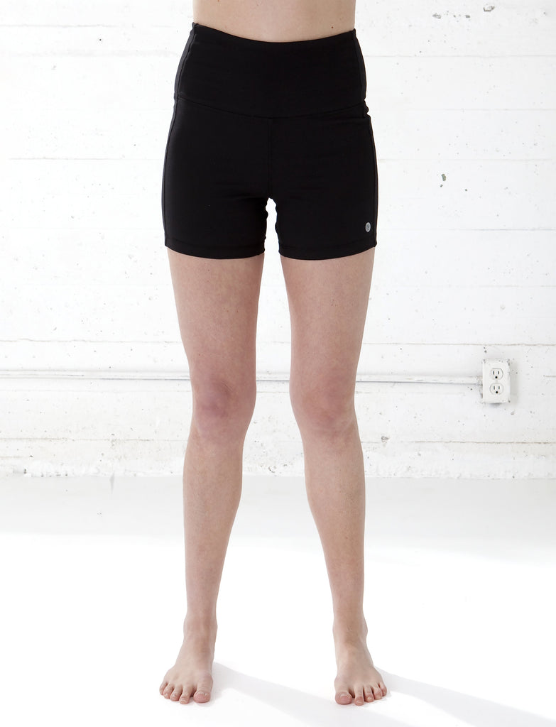 LADIES HIGH RISE YOGA SHORTS