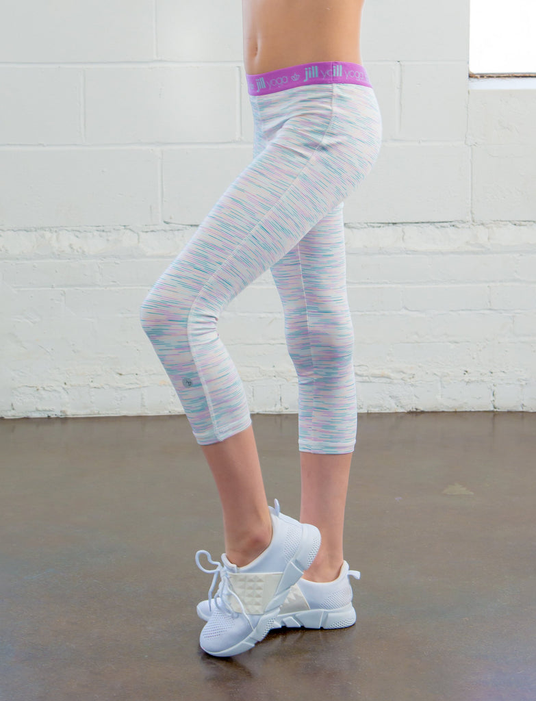 GIRLS ELASTIC WAIST CAPRI LEGGING