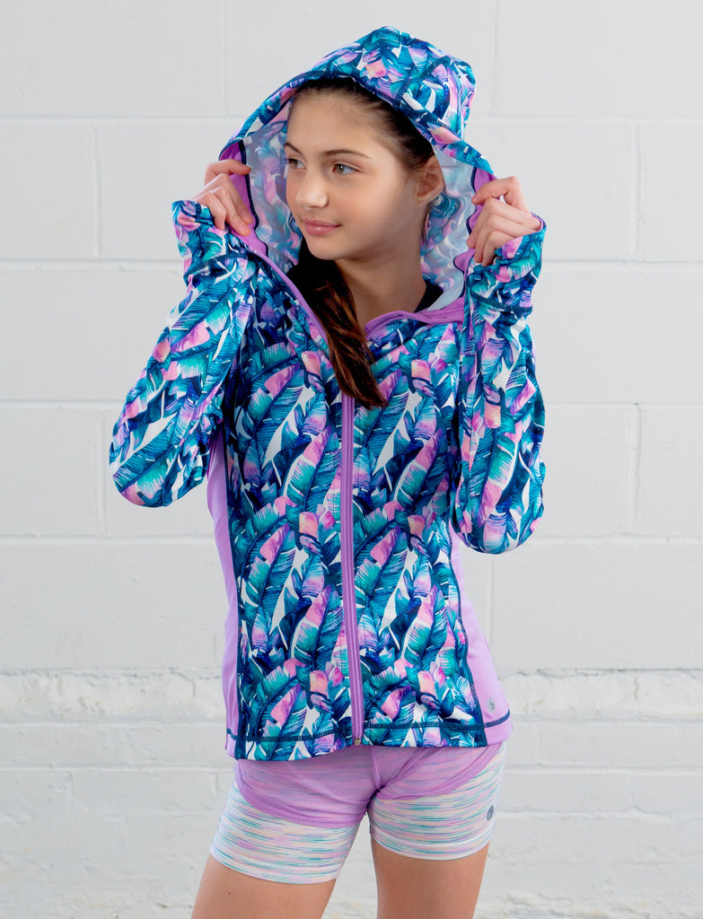 GIRLS CUT AND SEW HOODED JACKET