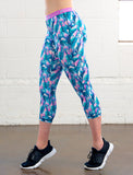 LADIES ALLOVER PRINT CAPRI LEGGING