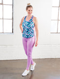 LADIES HIGH RISE  IRIDESCENT LEGGINGS