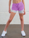 LADIES DOUBLE LAYER MESH SHORTS