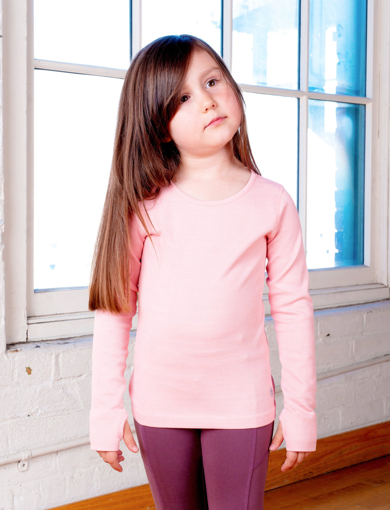 GIRLS 2-6 SEAMLESS WARM UP T