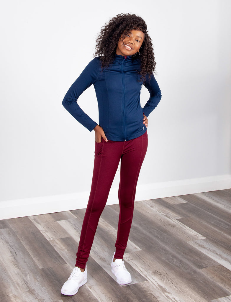GIRLS LOUNGE LEGGING W/ SIDE POCKET