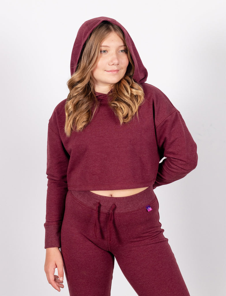 GIRLS CROP HOODED SWEATSHIRT