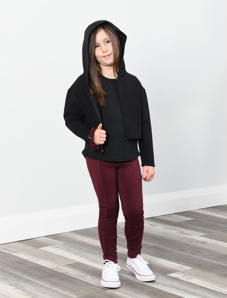 GIRLS 2-6 CROPPED ZIP-UP HOODY