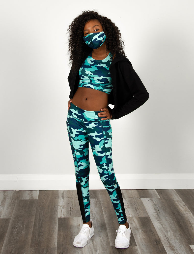 GIRLS PRINTED SIDE POCKET LEGGING