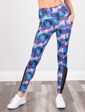 LADIES PRINTED SIDE POCKET LEGGING