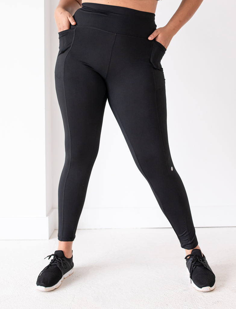 LADIES HIGH RISE SIDE POCKET LEGGING