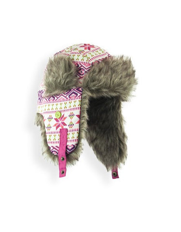 GIRL'S 2-3X TRAPPER W/FAUX FUR