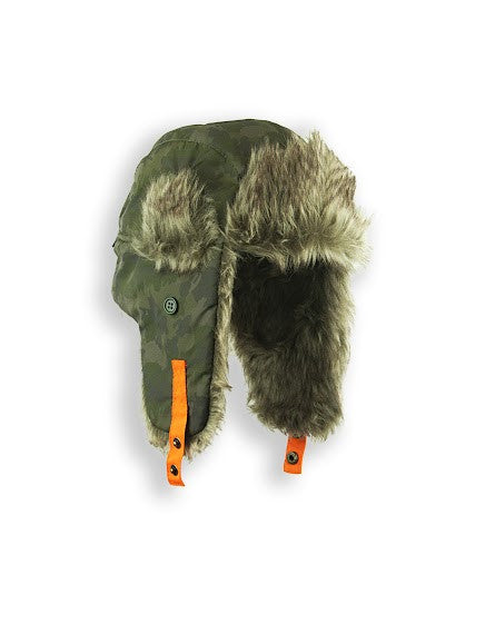 BOYS 4-16 TRAPPER W/ FAUX FUR