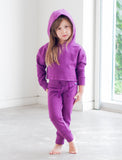 GIRLS 2-6 CROPPED COTTON HOOD