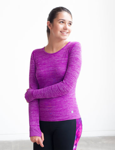 GIRLS SEAMLESS WARM UP T