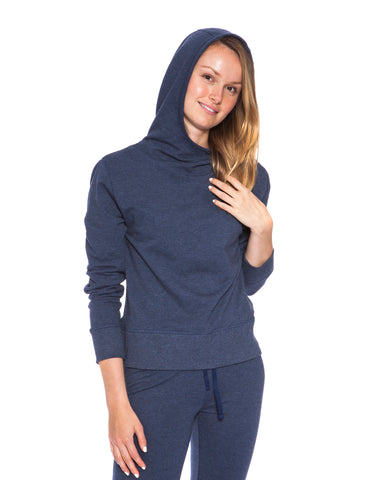 LADIES PULLOVER COTTON STRETCH HOODY