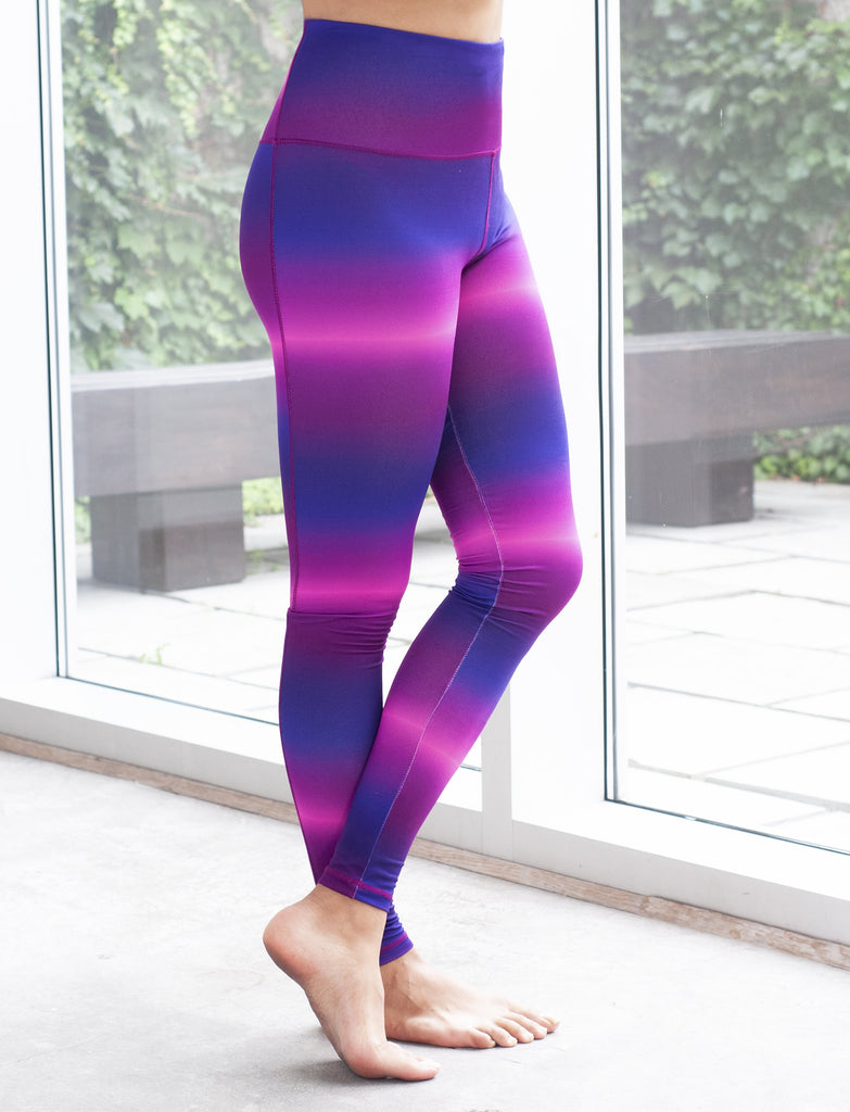 LADIES OMBRE PRINT LEGGINGS