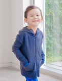 GIRLS 2-6 ZIP FRONT COTTON HOODY