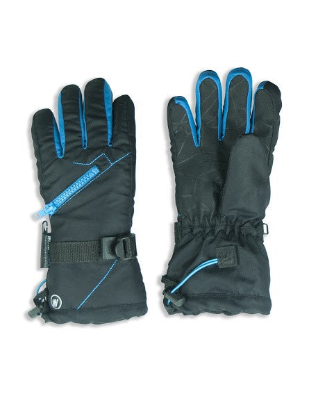BOY'S 4-16 SKI GLOVE W/ FRONT ZIPPER