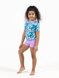 GIRLS 2-6X S/S RASHGUARD TANKINI SET