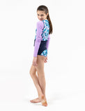 GIRLS L/S RASHGUARD TANKINI SET