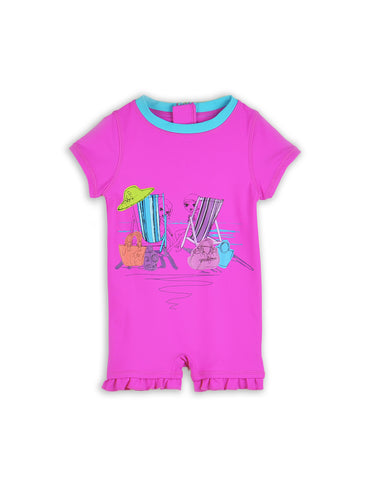 INFANT GIRLS ONE-PIECE RASHGUARD