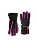 GIRL'S 4-16 SKI GLOVE W/ FRONT QUILTED PATCH & EXPOSED ZIPPER