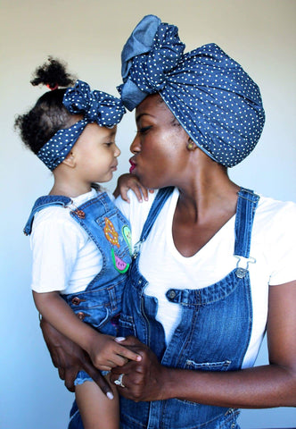 Denim and Hearts Mommie and Me Set