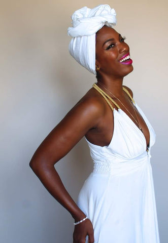 For the White Party Head Wrap