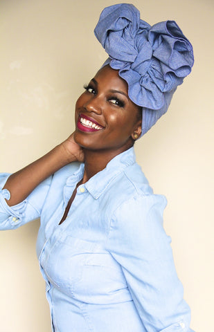 Divine Denim Headwrap