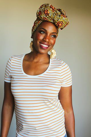 Cream of the Crop head wrap