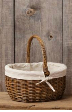 Small Woven Basket With Handle