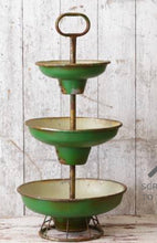 Tiered Green Bowl Stand