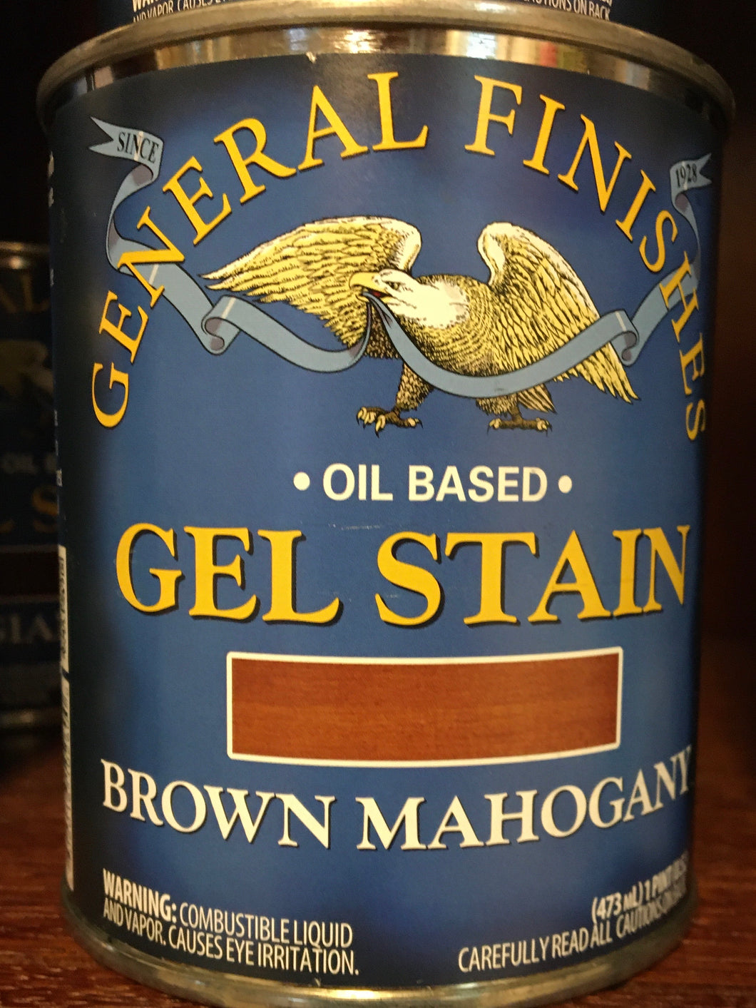 Brown Mahogany Gel Stain 1/2 Pint