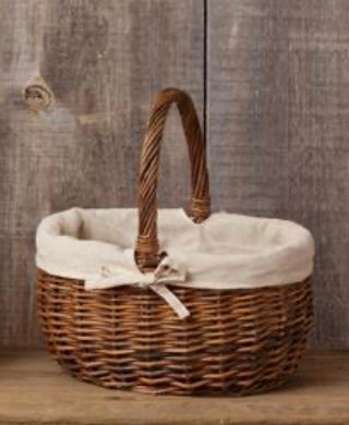 Large Lined Wicker Basket Large