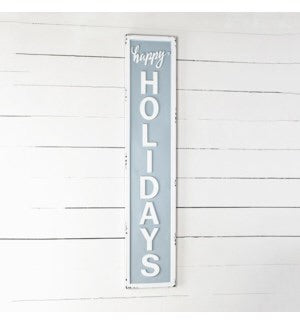 Holiday Tin Porch Sign