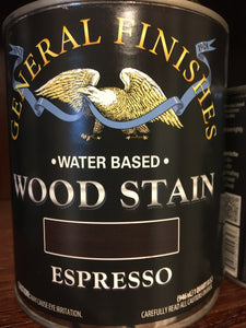 Espresso Water Based Wood Stain Quart