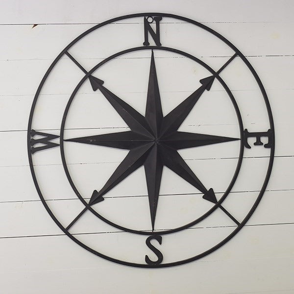 18 Inch Old Black Compass