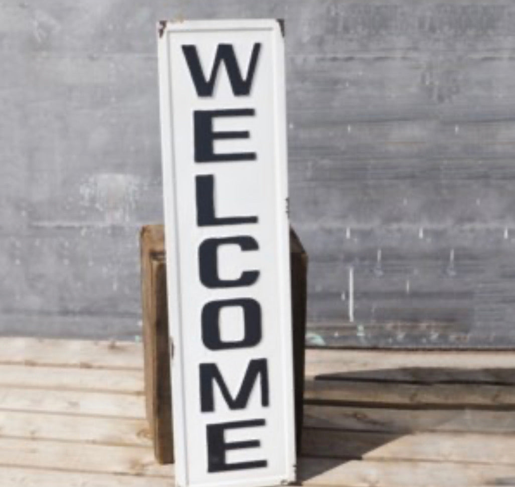 "36"" Tin Welcome Sign"