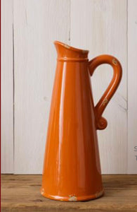 Orange Crackle Pitcher