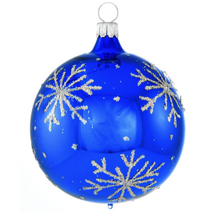 Bronner's Blue Snowflake Ornament