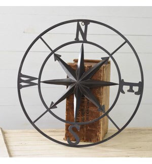 30 Inch Black Compass