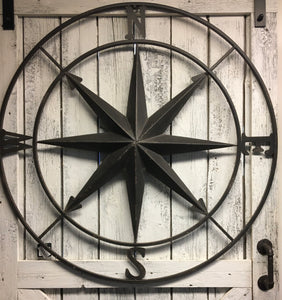 "40"" Large Black/Brown Compass"