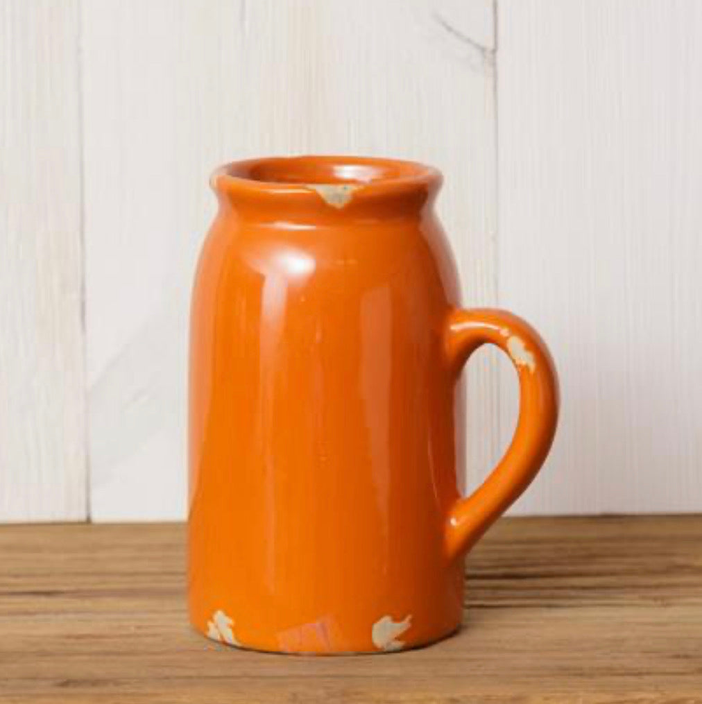 Orange Crackle Vase